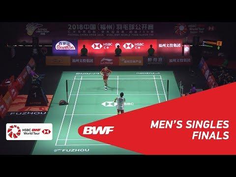 F  MS  Kento MOMOTA JPN 1 vs CHOU Tien Chen TPE 4  BWF 2018