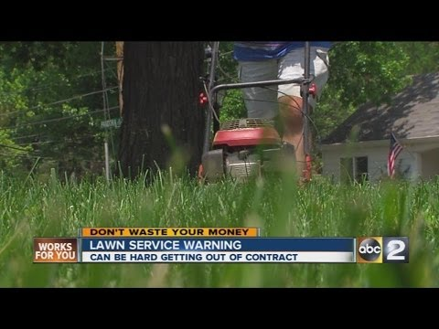 A warning over lawn care services