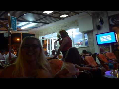 Tina Turner aka Ron at Alfa Bar Karaoke Afandou Rhodes Greece