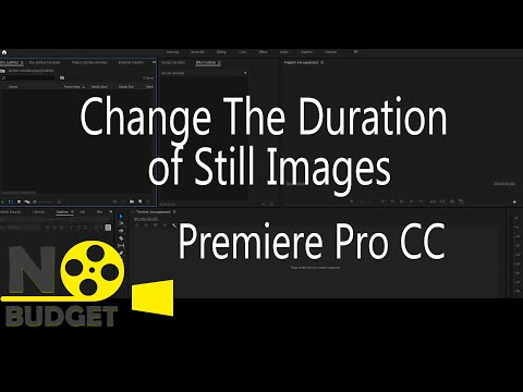 How to Change The Duration of Still Images in Premiere Pro CC