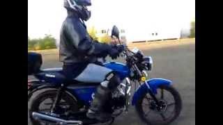 Девушка на мотоцикле. 5 урок