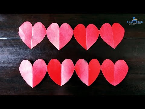 DIY Crafts – Paper Heart Design Valentine's Day and Room Decor Ideas | lina's craft club