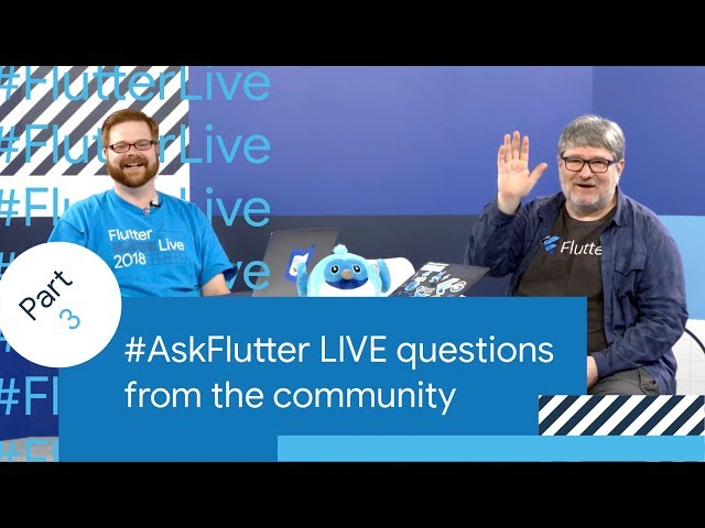 Flutter Performance, Flutter Games, Flutter Tooling, & More (#AskFlutter at Flutter Live)