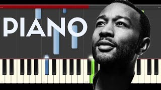 John Legend All of Me Piano Midi Tutorial Karaoke Easy Free Download Lyrics Sheet Cover