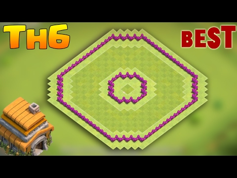 Clash Of Clans Town Hall 6 Defense (CoC TH6) BEST Hybrid / Trophy Base Layout 2017