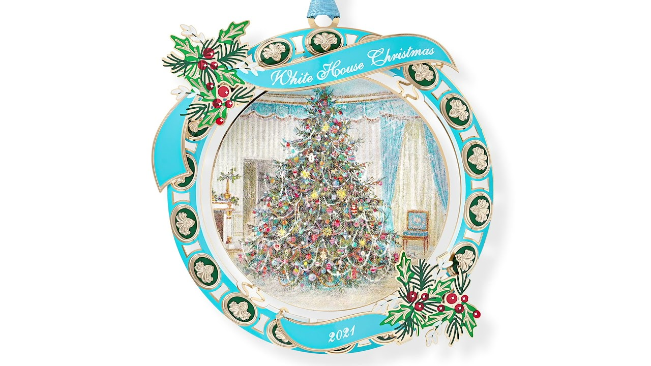 White House Christmas Pictures 2021 The Official 2021 White House Christmas Ornament Video Youtube