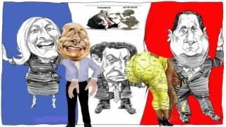 Jaques bis an die russische grenze جاك شيراك -CARTOON dabei geht ES um DEN menschen in afrika, DIE FRANKREICH hat
