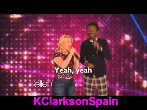 Kelly Clarkson sing Tony Karaoke- Ellen Degenders [Subtitulado]