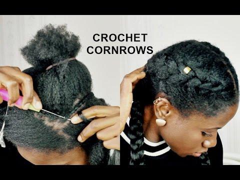 CROCHET BRAIDS CORNROWS LESS THAN 5 MINUTES