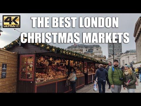 ⁴ᴷ BEST LONDON Christmas Markets Of 2019 - London Walking Tour