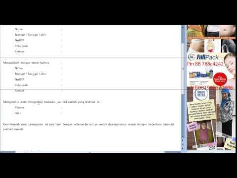Video Surat Pernyataan Transaksi Jual Beli Rumah