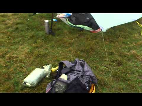 MLD Grace Solo tarp in low pitch.