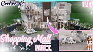 Bloxburg | Shopping Mall Part 1 | Speed Build