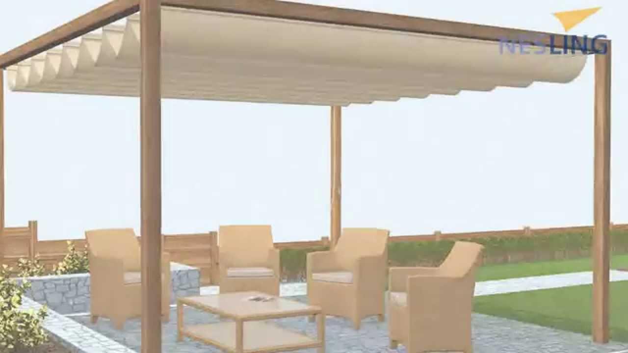 montage nesling coolfit harmonica faltsonnensegel breite 3 70 meter youtube. Black Bedroom Furniture Sets. Home Design Ideas
