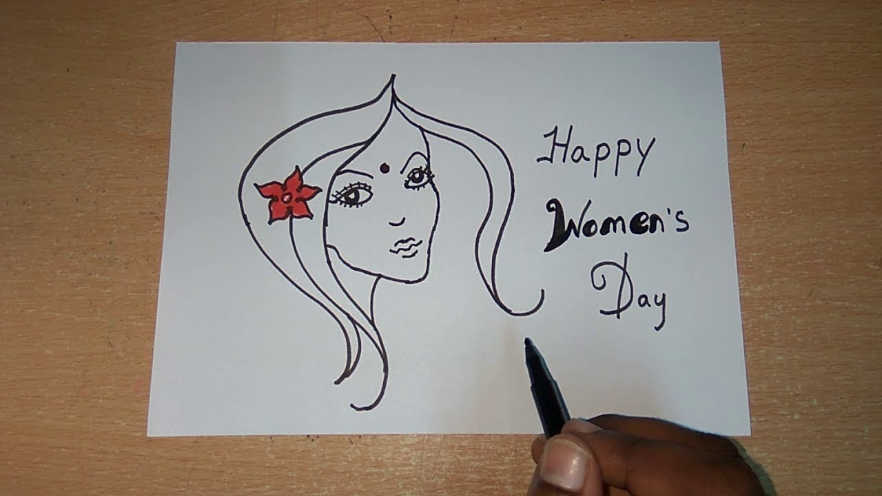 Womens day drawing s day womens day special