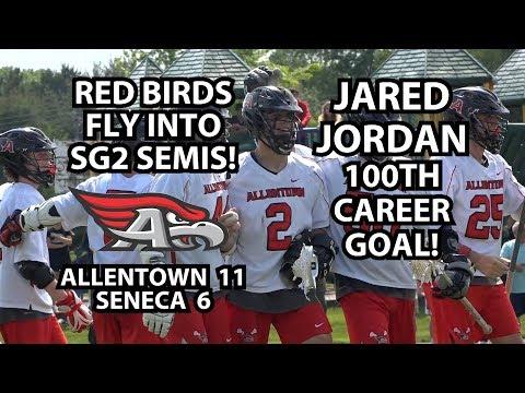 Allentown 11 Seneca 6 Boys Lacrosse SG2 Quarterfinal Round   Jared Jordan 4 Goals!