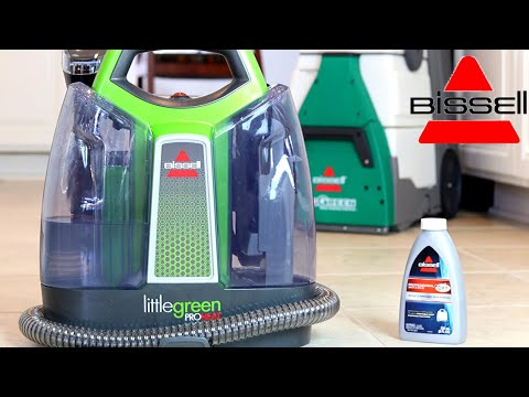 BISSELL LITTLE GREEN PROHEAT Portable Deep Cleaner Review / Demo / Setup
