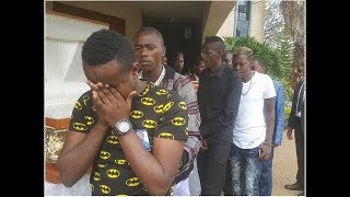 Churchill Show comedians SHED TEARS during Ayeiya's Funeral