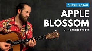 """Guitar lesson for """"Apple Blossom"""" by The White Stripes (acoustic)"""