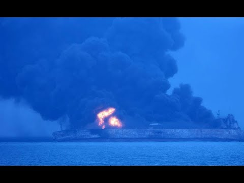 Oil Tanker Collides With Cargo Ship Off Chinese Coast, 32 missing (Video)