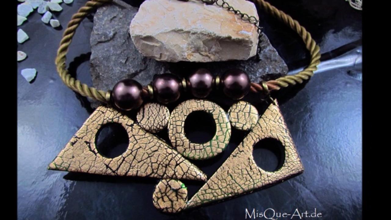 Fimo Schmuck Ideen Polymer Clay Jewelery Youtube