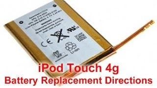 How to: Replace iPod Touch 4th Gen Battery | DirectFix.com