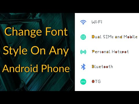 How To Change Font Style In Any Android Device | FREE FONTS (TAGALOG)