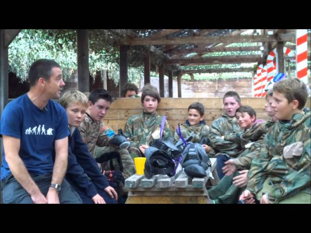 Birthday party at the Yorkshire Paintball Centre