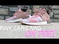 Adidas Pink NMD_XR1 Duck Camo On Feet