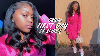 FIRST DAY OF SCHOOL GRWM: hair, outfit, etc.
