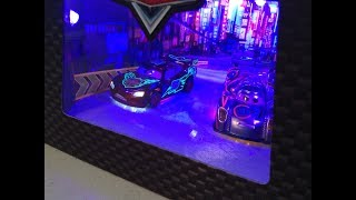 Disney Cars Rare 2014 SDCC Exclusive Light-up Neon McQueen and Shu Review