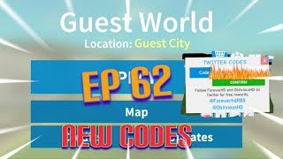 """Roblox- """"Guest World!"""" {Episode 62} New Codes!!!"""