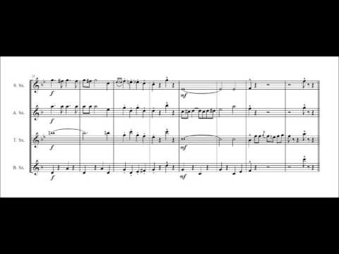 The Third Man (Harry Lime) theme for saxophone quartet