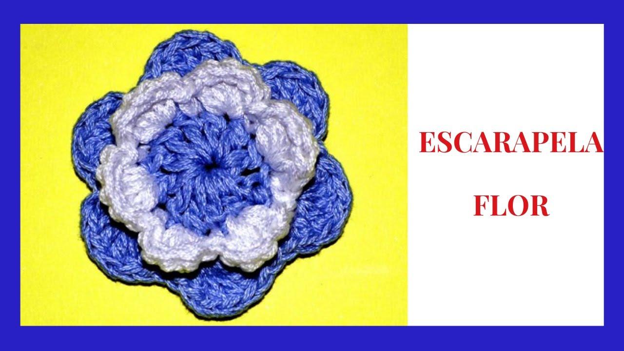 Escarapela Argentina Flor en tejido crochet tutorial paso a paso ...