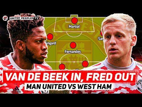 VAN DE BEEK IN, FRED OUT?   Man United vs West Ham   Carabao Cup