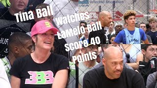 LaMelo Ball Scores 40 Points with his mom Tina Ball in attendance
