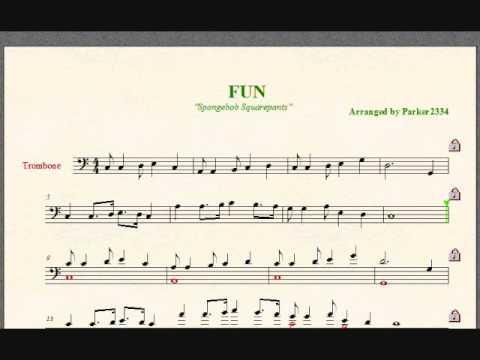 Spongebob SquarePants: FUN song -Trombone