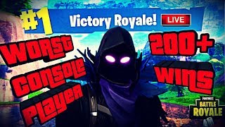 *Worst* Console Player 200+ Wins RIP PlayGround! Fortnite Battle Royale Road To 2.9K