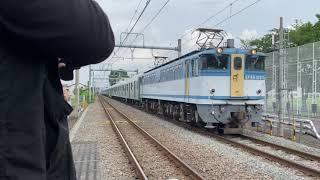 EF65−2127+2020系2147F   甲種輸送 西府駅通過