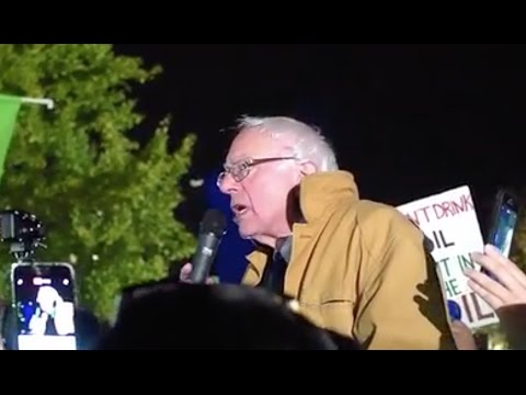 Bernie Sanders Takes Standing Rock Protest To The White House