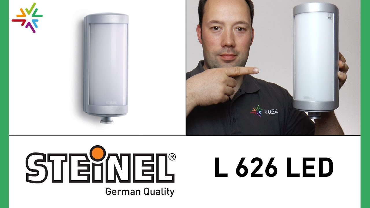 steinel l 626 led design sensor au enleuchte watt24 video nr 73 youtube