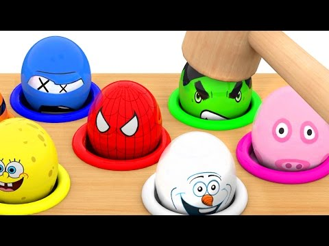 Thumbnail: Whac a Mole Character Surprise Eggs Learn Colors for Kids Children Toddlers coockie monster
