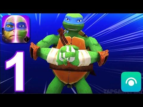 Teenage Mutant Ninja Turtles: Legends - Gameplay Walkthrough Part 1 - Chapter 1: Stages 1-3 (iOS)