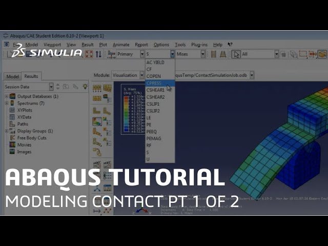 Simulia How To Tutorial For Abaqus Modeling Contact Using Contact Pairs Part 1 Of 2 Youtube