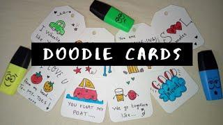 DIY   Doodle cards for your best friends.. ❤️
