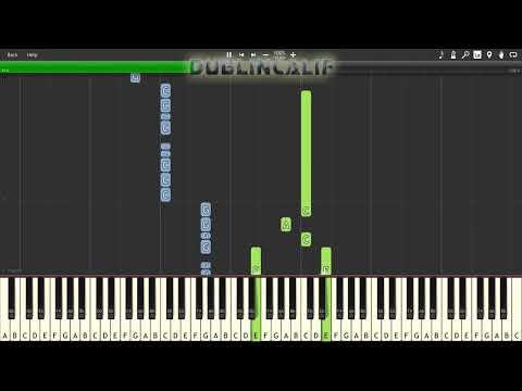 Mario Kart Double Dash - Rainbow Road Theme Piano Tutorial Synthesia