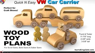 Wood Toy Plans - Vw Car Carrier