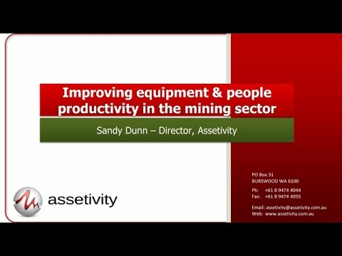 Improving Productivity in the Mining Sector