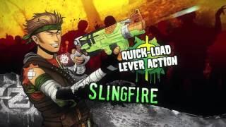 A6563 + A9603 Nerf Zombie Strike FlipFury & SlingFire NO TVC