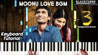Moonu 3 Bgm Piano Cover | Soft Piano | Heart Touching Bgm Moonu | Synthesia Keyboard Tutorials Tamil